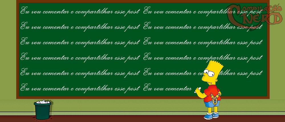 Bart escrevendo na lousa